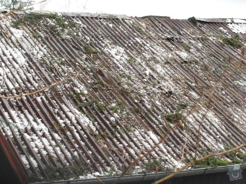Oprava střechy po pádu stromu na chatě ve Frýdlantě nad Ostravicí: SDC13118