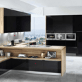 Realizace kuchyne na miru drevo tmavy lesk