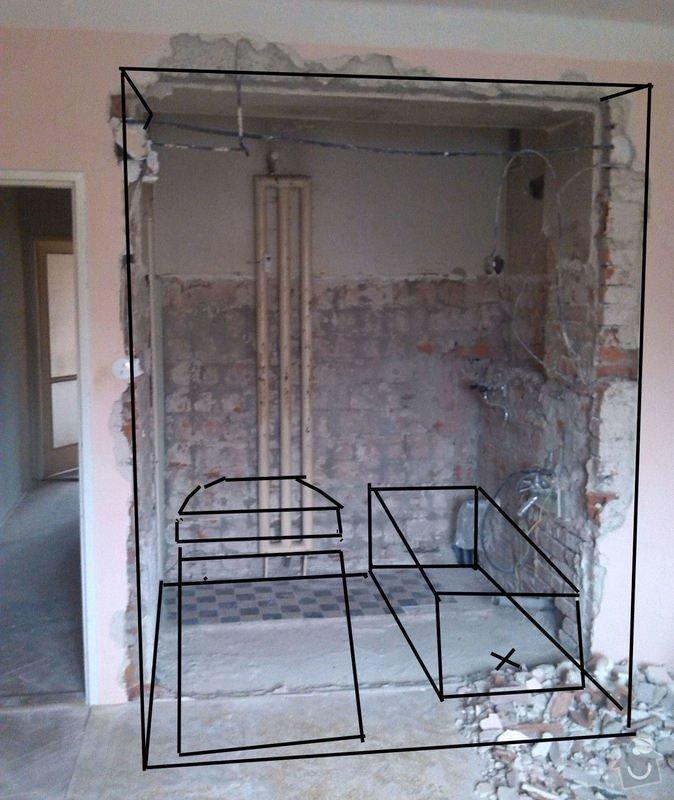 Rekonstrukce vody a odpadu v koupelně : Koupelna1