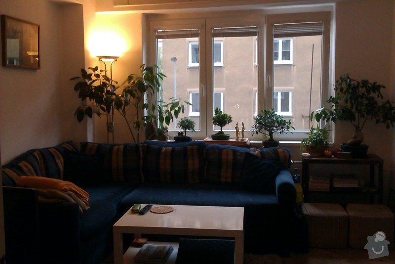 Podlahářské práce - pokládka lina ve dvou pokojích a renovace parket v 1 pokoji: Mensi_pokoj