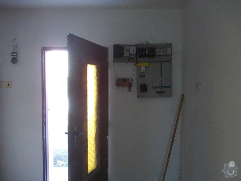 Rekonstrukce elektrických rozvodů v přízení rodinného domu = 130 m2: DSCN1051