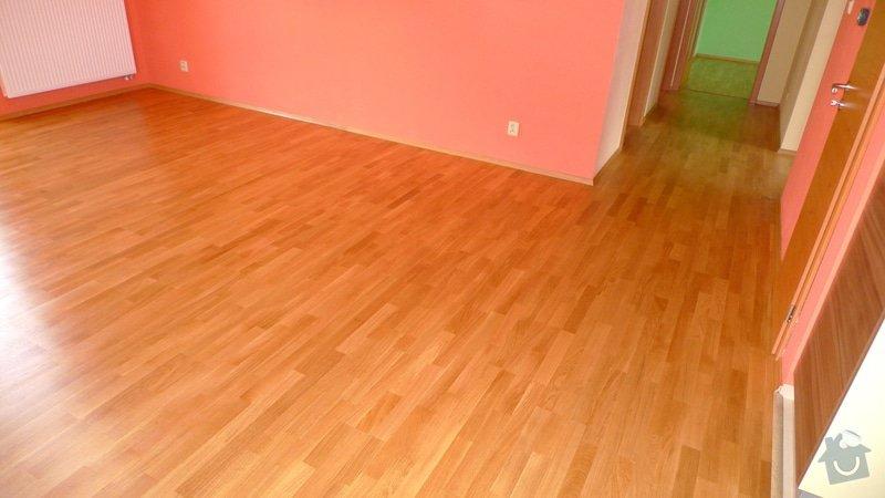 Pokládka dřevěné podlahy Barlinek 94 m2.: P1040888