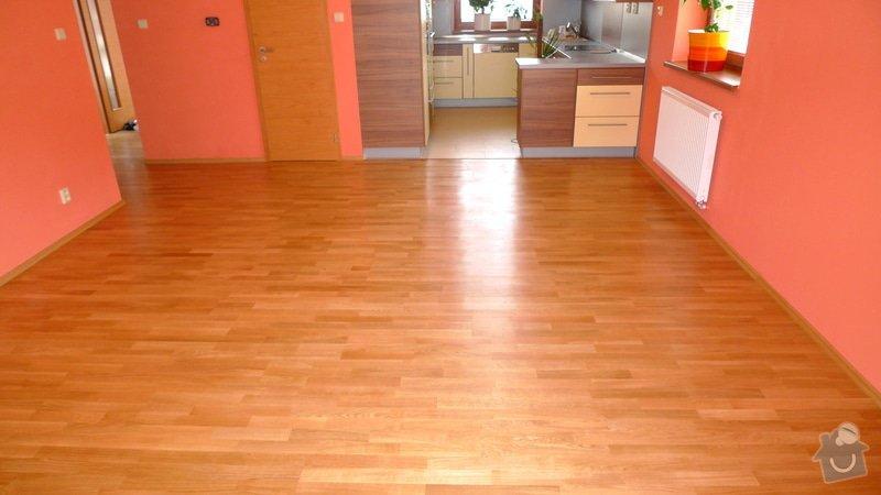 Pokládka dřevěné podlahy Barlinek 94 m2.: P1040876