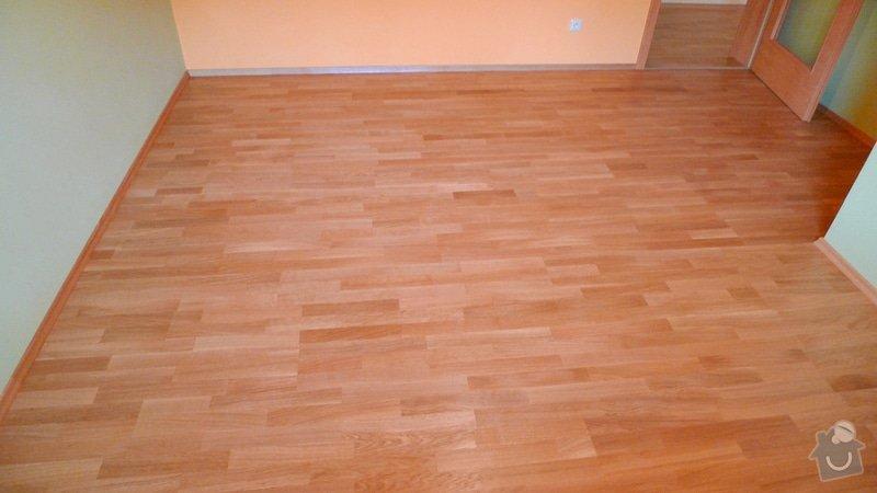 Pokládka dřevěné podlahy Barlinek 94 m2.: P1040882