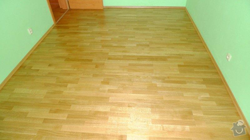 Pokládka dřevěné podlahy Barlinek 94 m2.: P1040887
