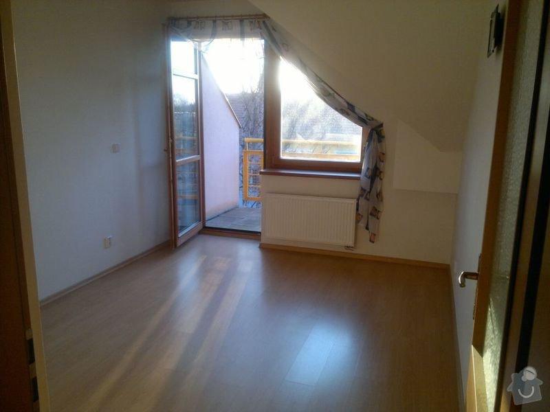 Bílení podkrovního bytu 68 m2 v ČB: loznice