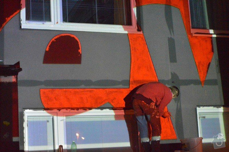 Opravy a nátěry fasády, nátěry střech,zábradlí, okapů  a schodišťové konstrukce: 25