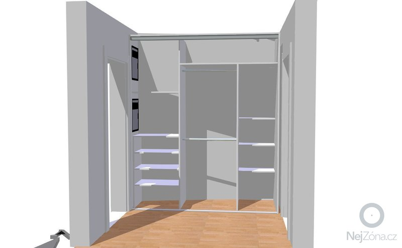 Vestavěná skříň do předsíně, nábytek do koupelny: Gajzurova_chodba_1