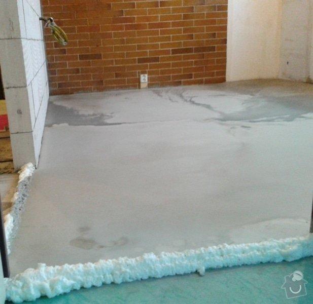 Vyrovnání podlahy: sterka1