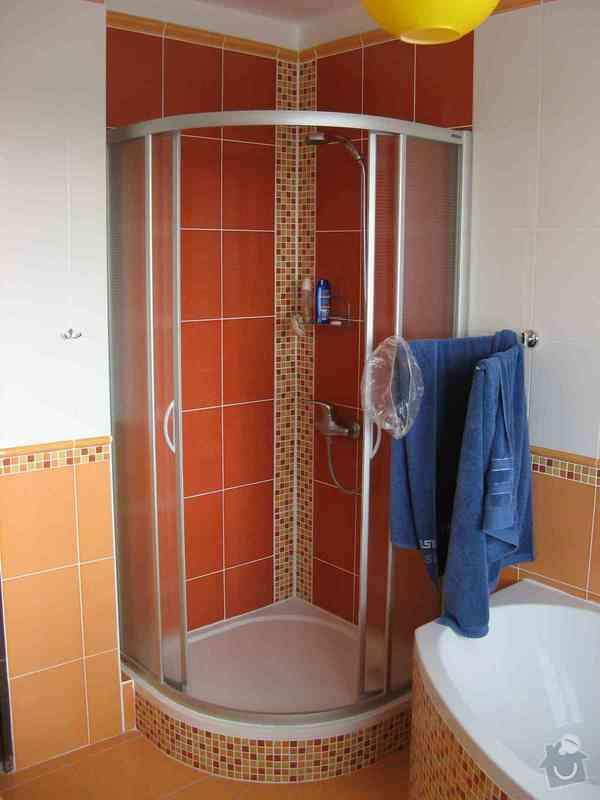 Výměna sprchového koutu + zednické práce: sprchac