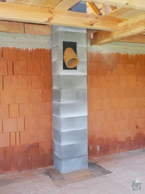 Zednické práce, novostavba roubenky: komin_2