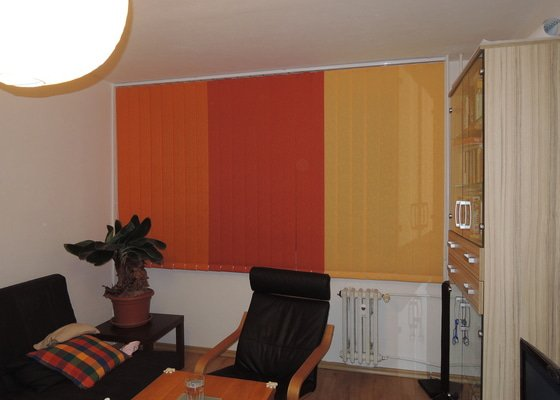 Vnitřní vertikalni a horizontální žaluzie, 3 pokoje