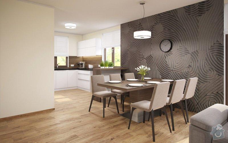 Návrh obývacího pokoje s jídelnou a kuchyní.: 22