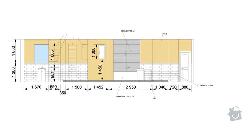 Částečná rekonstrukce bytu 2+kk: koupelna