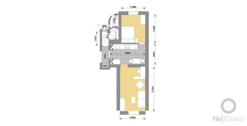 Částečná rekonstrukce bytu 2+kk: pudorys_2_copy