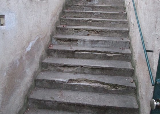 Oprava betonových schodů