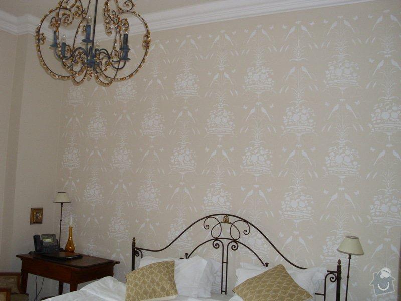 Rekonstrukce dekorativní malby v Hotelu Chateau Mcely *****: 1_Rekonstrukce_dekorativni_malby_v_Chateau_Mcely_-_vysledek_malby