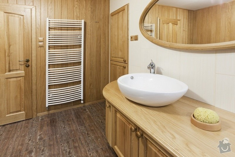 Výroba koupelnového nábytku z dubového masivu: koupelna