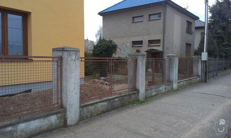 Stavba plotu: 014