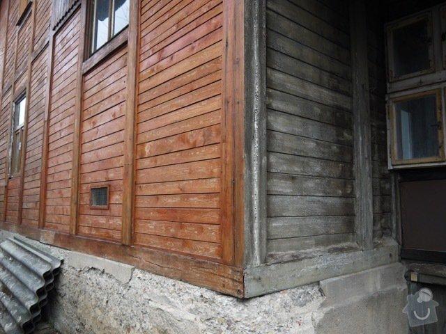 Oprava a zateplení dřevěné fasády: P1080142
