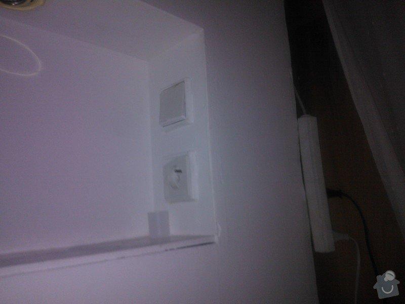 Zapojení stropního svítidla, popř. oprava elektroinstalace pod sádrokartonem: WP_000312