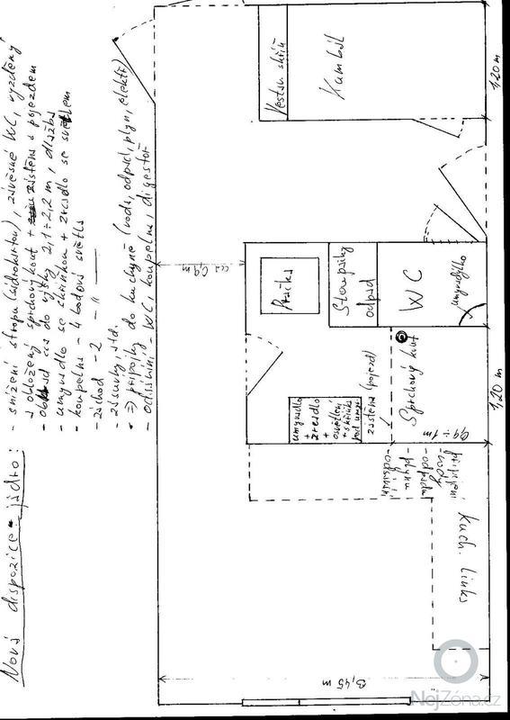 Rekonstrukce bytového jádra: Byt_Louny_nova_dispozice
