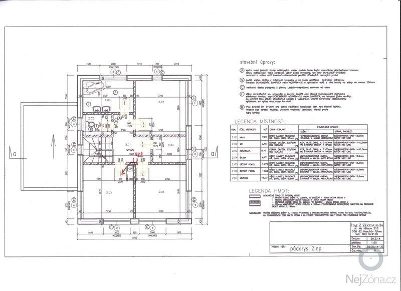 Potrubí centrálního vysavače: 2NP_CVS