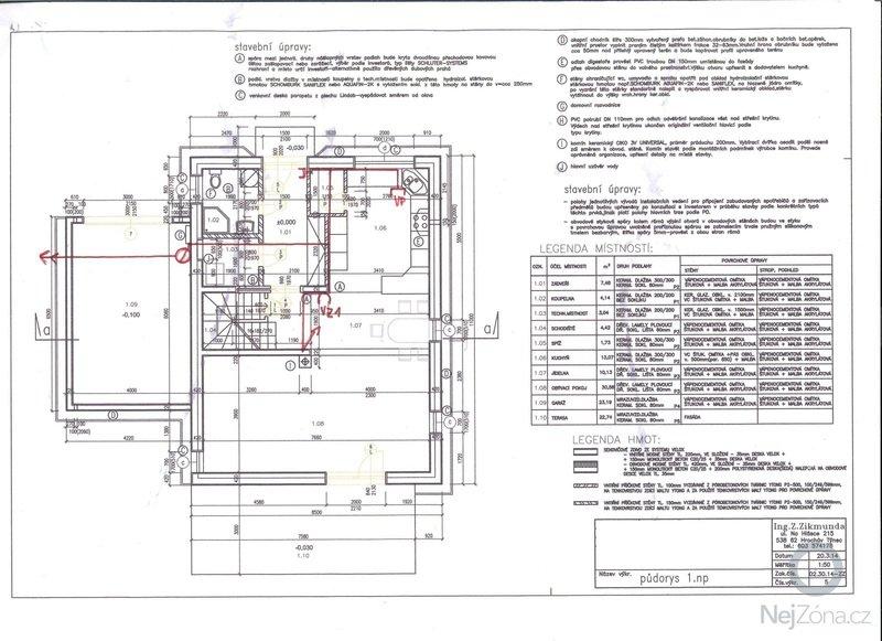 Potrubí centrálního vysavače: 1NP_CVS