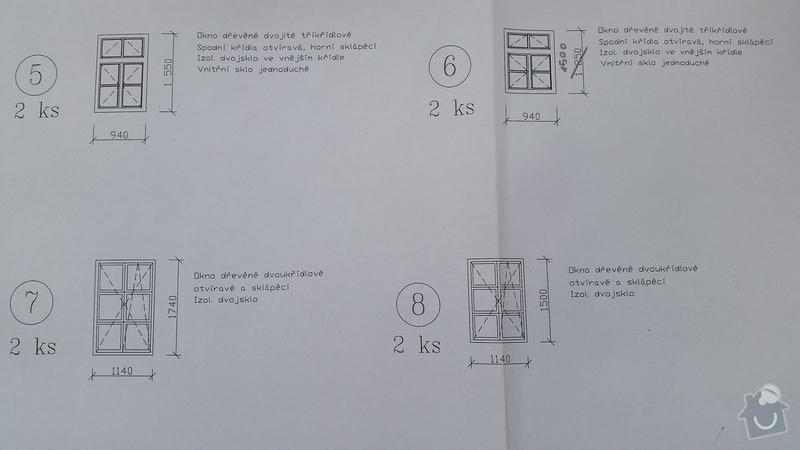 Dřevěná okna 10x  a vstupní dveře 2x.: 20150302_114143