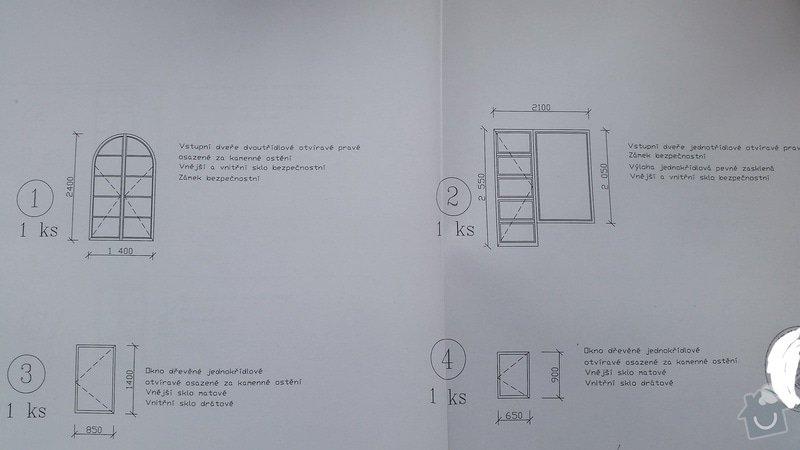 Dřevěná okna 10x  a vstupní dveře 2x.: IMG_20150302_115830