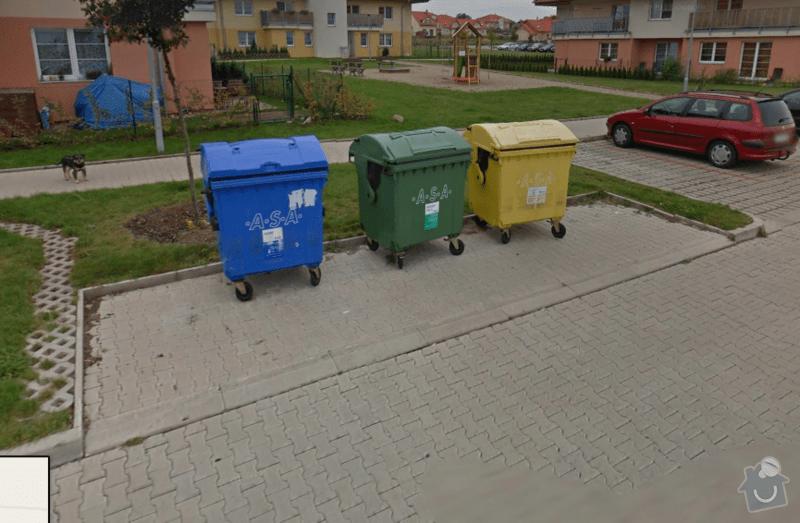 Stavba bariéry - zakrytí popelnic: Popelnice_Google_street_view