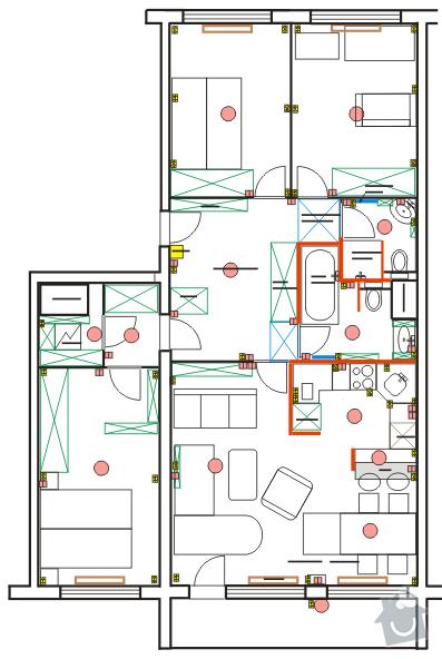 Návrh interiéru bytu 4+kk: byt_cely