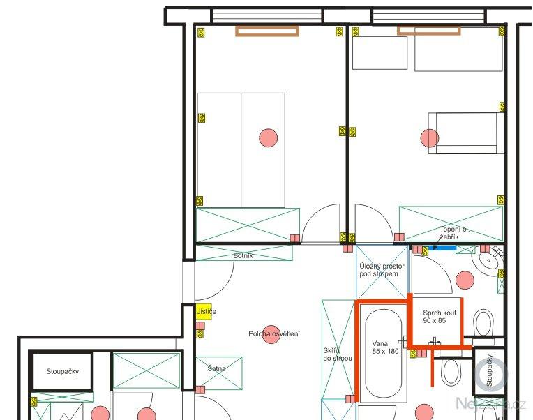Návrh interiéru bytu 4+kk: byt_sever