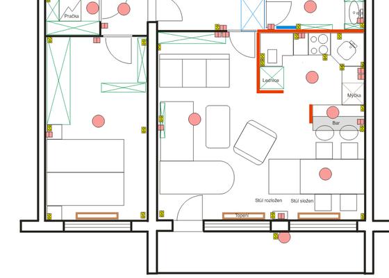 Návrh interiéru bytu 4+kk