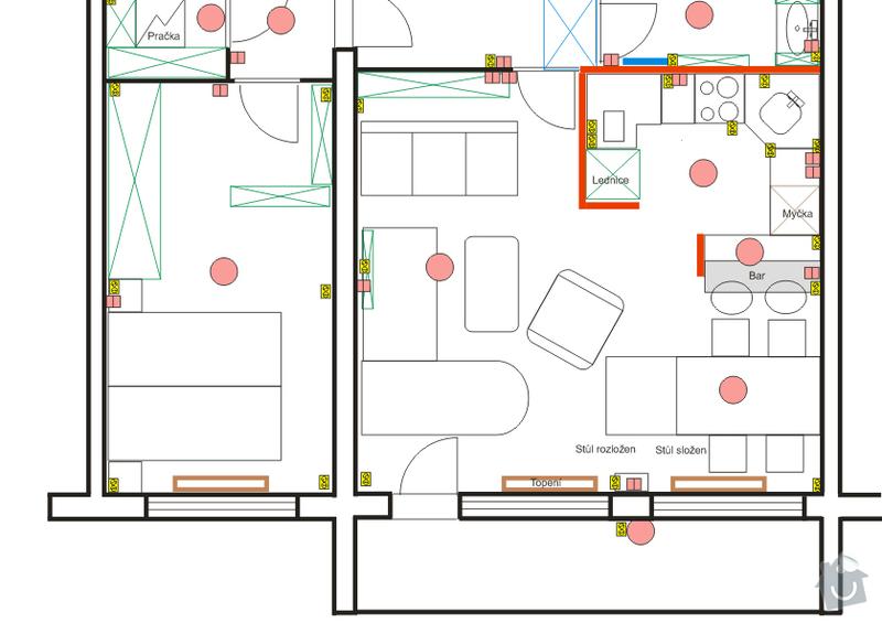 Návrh interiéru bytu 4+kk: byt_jih