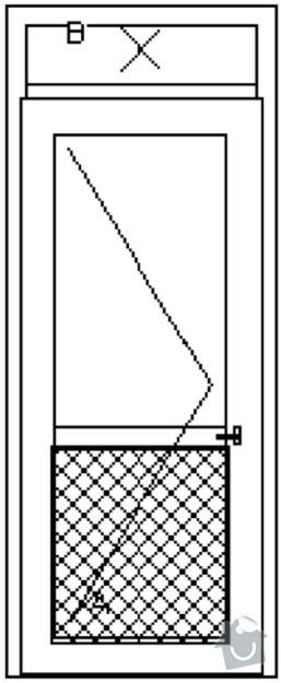 Plastová okna pro bytový dům včetně montáže. : Pohled_dvere_jednokridlove_870_x_2330