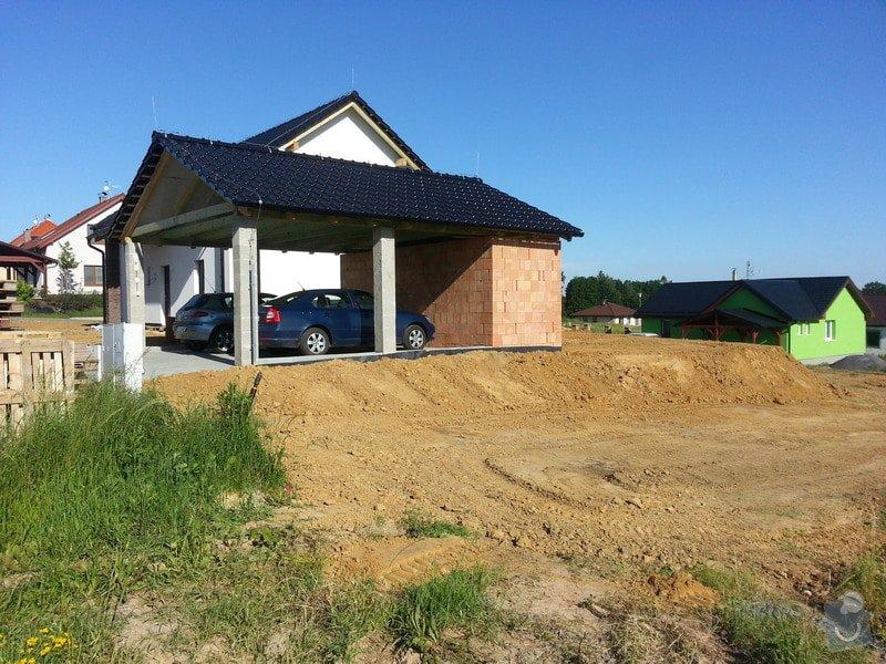 Opěrná zeď + položený dlažby: 20140606_172444