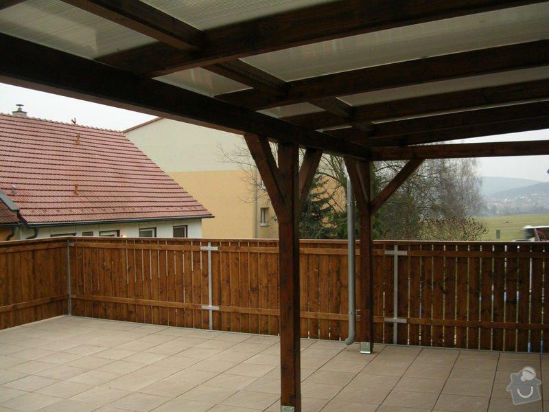 Zábradlí + pergola na střeše garáže: DSCN9163