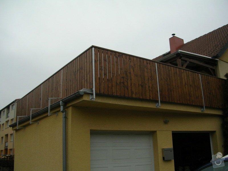 Zábradlí + pergola na střeše garáže: DSCN9166