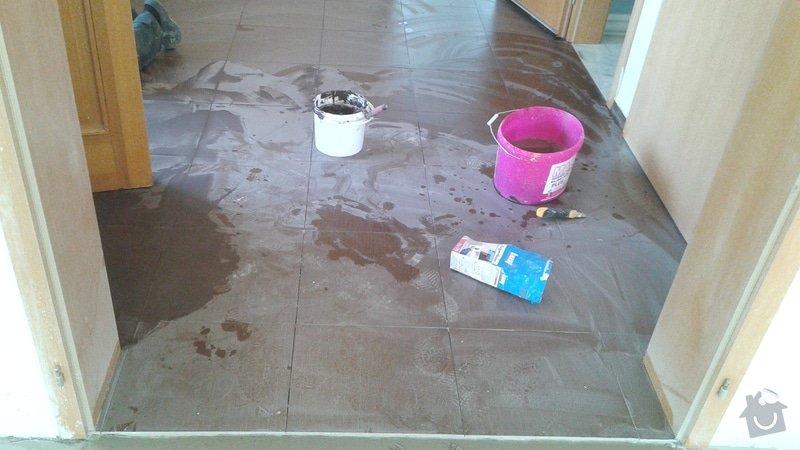 Malířské práce rodinný dům 5+KK v dolních Jirčanech, pokládka dlažby v předsíni 10m2: 20150221_122449