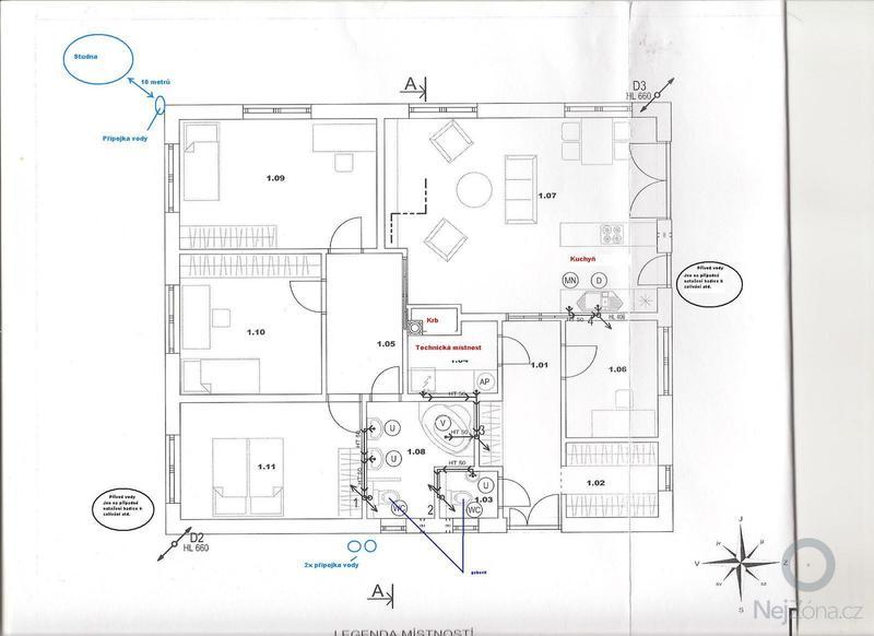 Rozvody plynu v rodinném domu (hrubá stavba dokončena): studna_a_pripojky