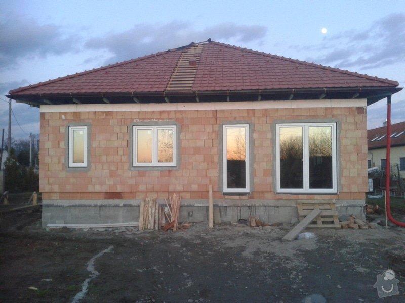Rozvody plynu v rodinném domu (hrubá stavba dokončena): RD