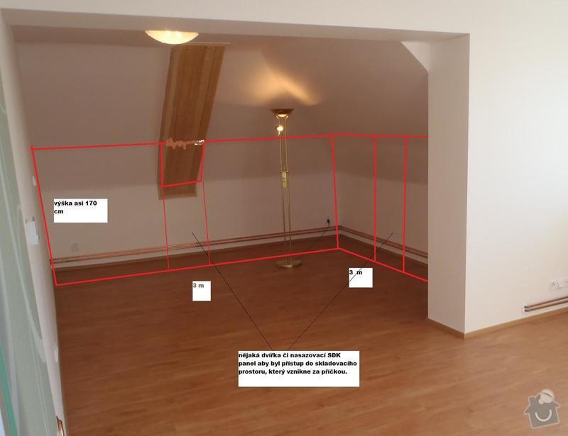 8 bm sádrokartonové příčky do podkrovní místnosti : pricka_uprava