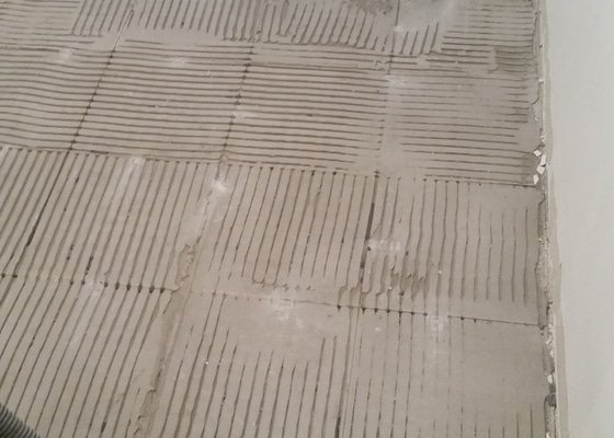Pokládka dlažby chodba + 2x koupelna (cca 15m2)