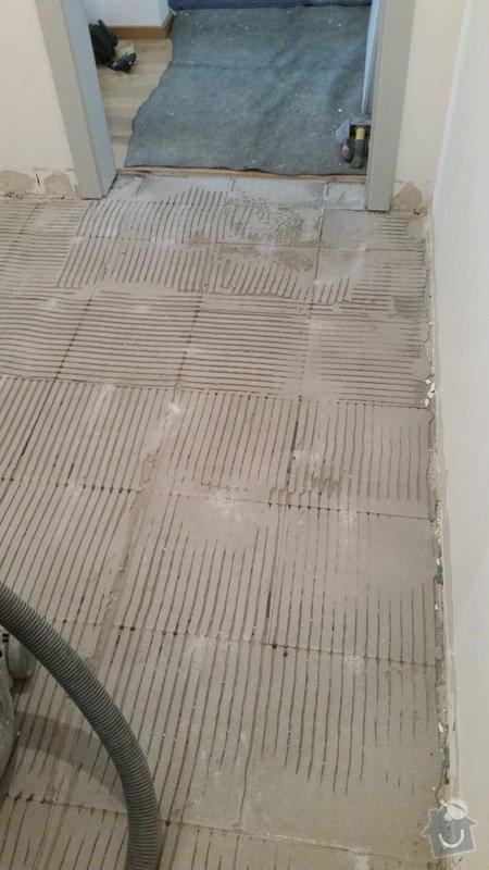 Pokládka dlažby chodba + 2x koupelna (cca 15m2): 2