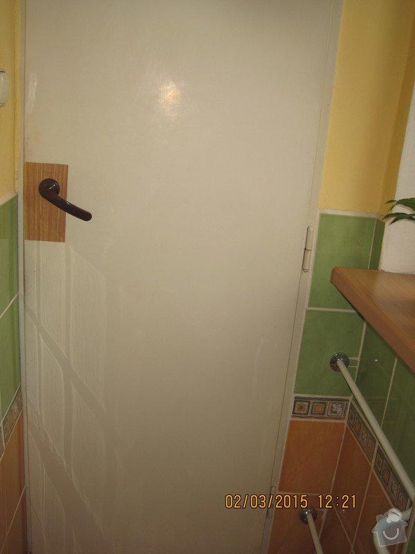 Renovace dveří - tapetování: WC