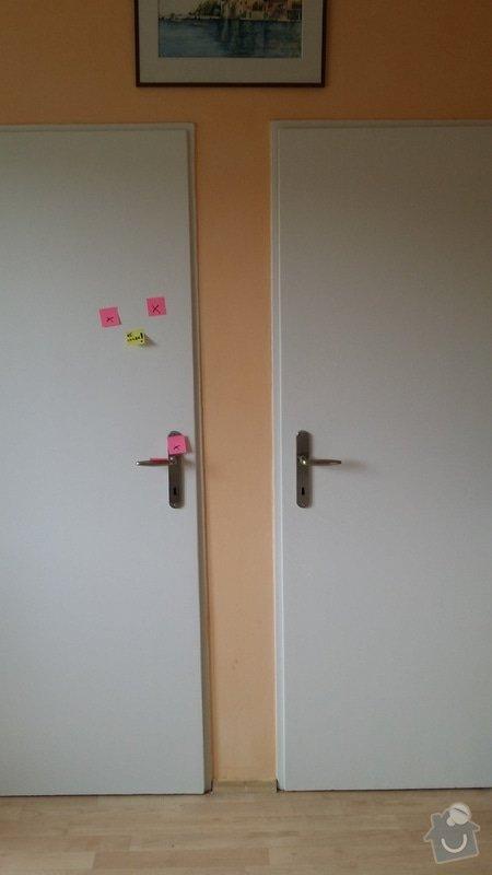 Renovace bytových dveří (9x): 1a