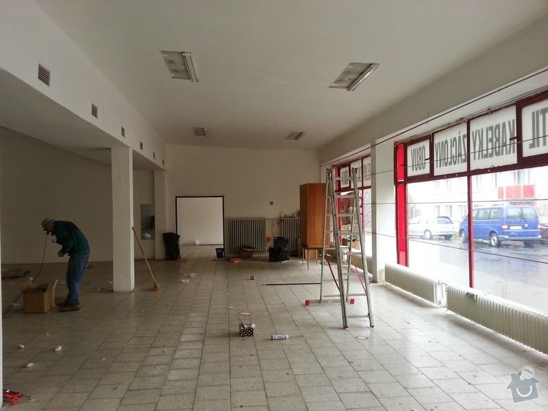 Výmalba prodejny, 300m2 - Praha 10: 20150301_142131