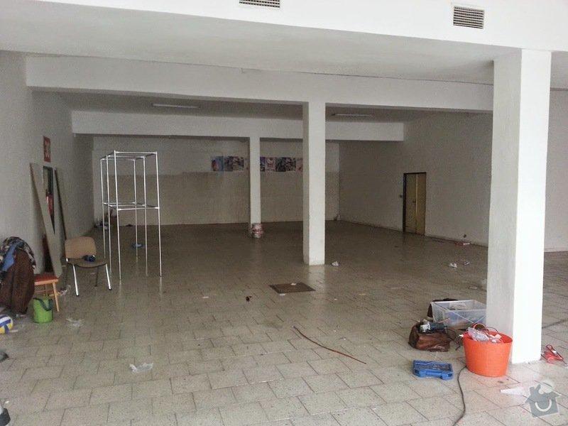 Výmalba prodejny, 300m2 - Praha 10: 20150301_142015