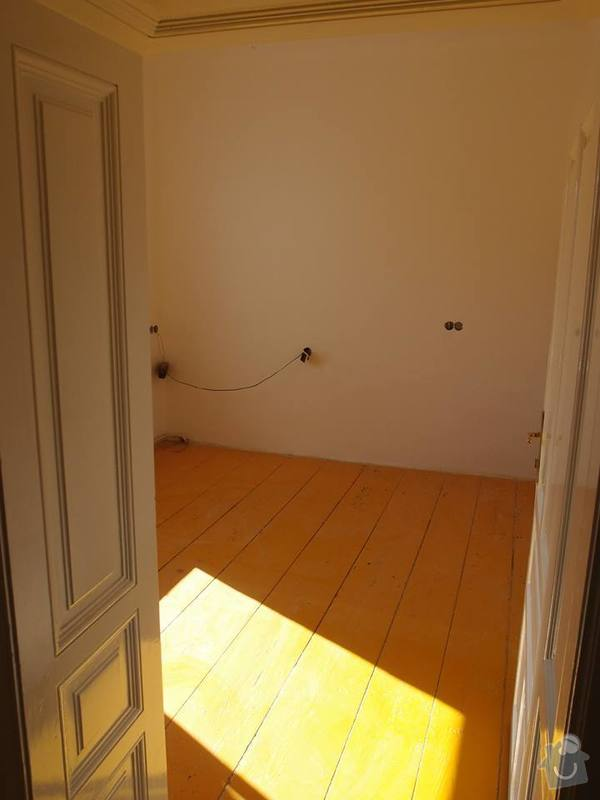 Pokládka podlahy a nábytek do pokoje: 1
